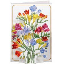 3-D Freesias Card ~ England